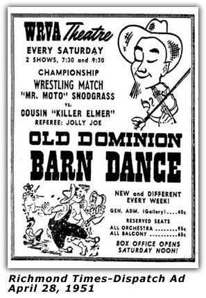 hillbilly-music com - WRVA Old Dominion Barn Dance