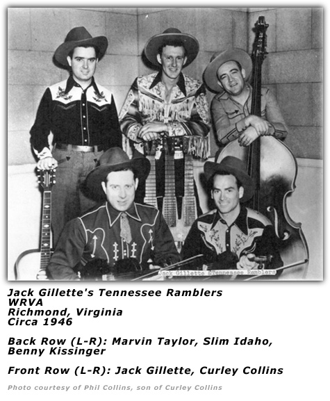 Jack Gillette's Tennessee Ramblers circa 1946