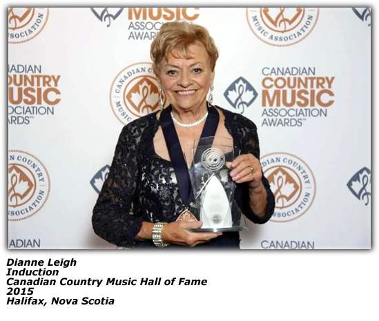 Dianne Leigh - 2015 - Canadian Country Music Hall Of Fame Award