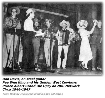 Don Davis and Pee Wee King and his Golden West Cowboys
