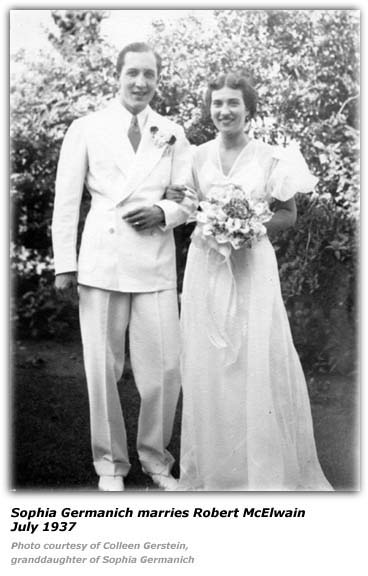 Bob McElwain - Sophia Germanich - Married 1937