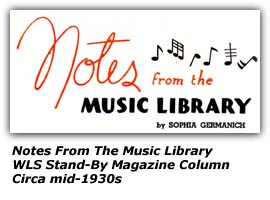Notes from the Music Library