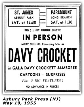 Merv Shiner - 1955 Appearance - Davy Crockett