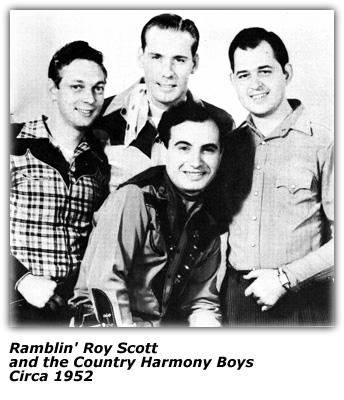 Roy Scott and the Country Harmony Boys Circa 1953