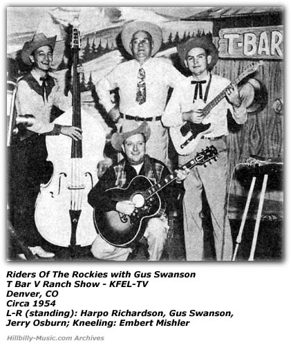 Riders of the Rockies; Harpo Richardson; Gus Swanson; Jerry Osburn; Embert Mishler