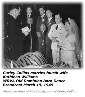 Curley Collins marries Kathleen Williams March 19 1949