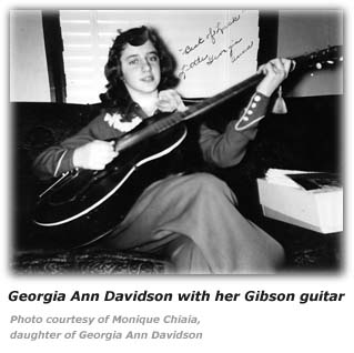 Georgia Ann Davidson and Gibson Guitar