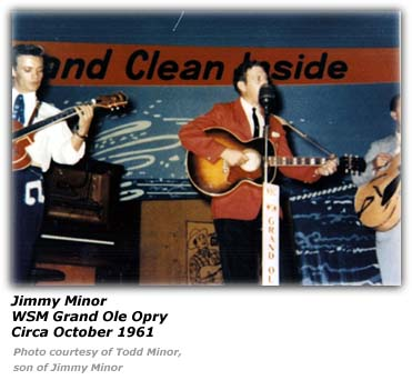 Jimmy Minor - WSM Grand Ole Opry October 1961