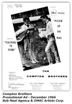 Compton Brothers Ad - 1966