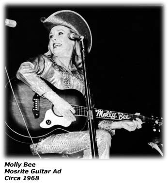 Molly Bee Mosrite Guitar Ad