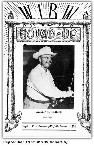 Colonel Combs - Cover