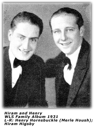 Hiram and Henry - WLS - 1938