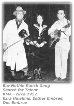 Uncle Ezra's Bar Nothin Ranch Gang Search for Talent - KMA - 1952