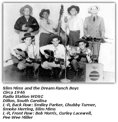 Slim Mims and the Dream Ranch Boys - Circa 1946