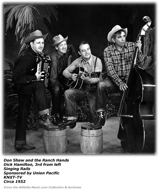 Don Shaw and the Ranch Hands Singing Rails Dick Hamilton 3rd from Left