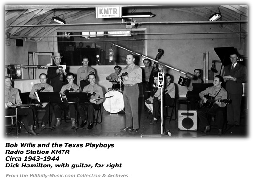Bob Wills and the Texas Playboys with Dick Hamilton KMTR 1943-1944