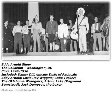 Danny Dill with Eddy Arnold Show