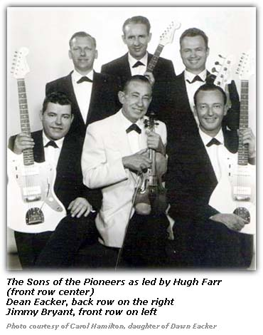 The Sons of Pioneers Hugh Farr Dean Eacker late 1950s