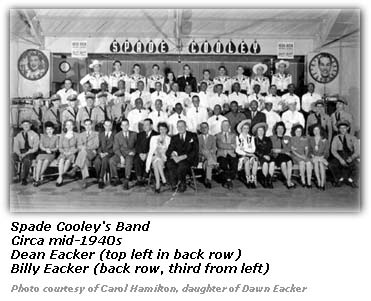 Dean Eacker Billy Eacker Spade Cooley Band