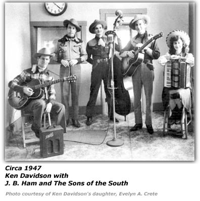 Ken Davidson - with J. B. Ham and the Sons of the South