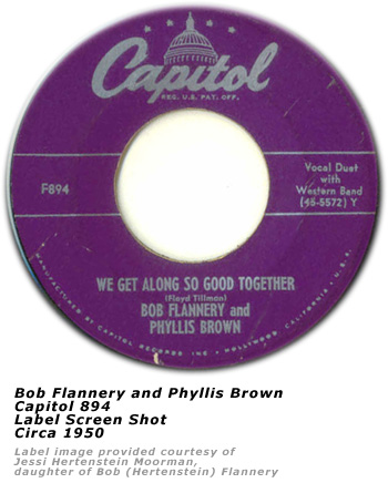 Bob Flannery and Phyllis Brown - 45