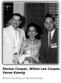 Verne Koenig with Stoney and Wilma Lee Cooper