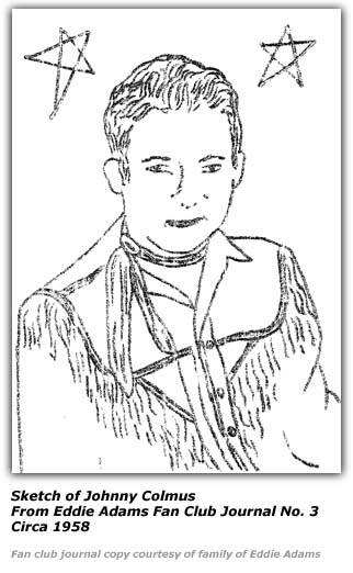 Sketch of Johnny Colmus