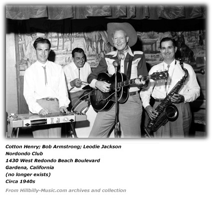 Leodie Jackson, Billy Armstrong, Cotton Henry - Nordondo Club circa 1940s