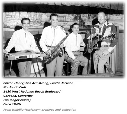 Leodie Jackson, Billy Armstrong, Cotton Henry - Nordondo Club circa 1940s 2