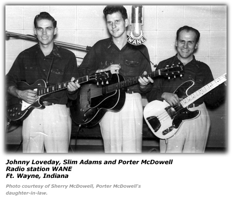 Johnny Loveday, Slim Adams and Porter McDowell - WANE