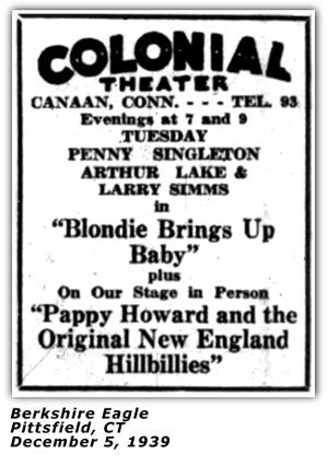 Pappy Howard Colonial Theater Ad 1939